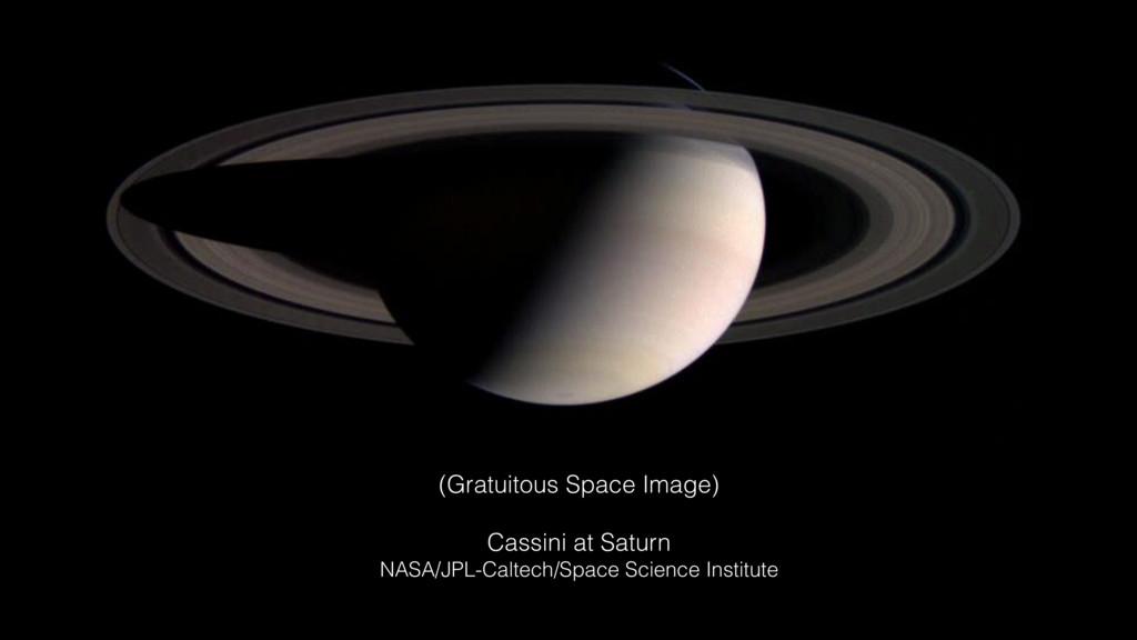 (Gratuitous Space Image) Cassini at Saturn NASA...
