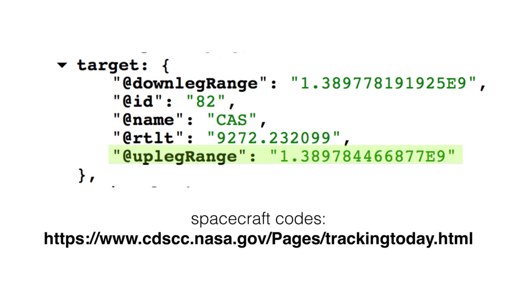 spacecraft codes: https://www.cdscc.nasa.gov/Pa...