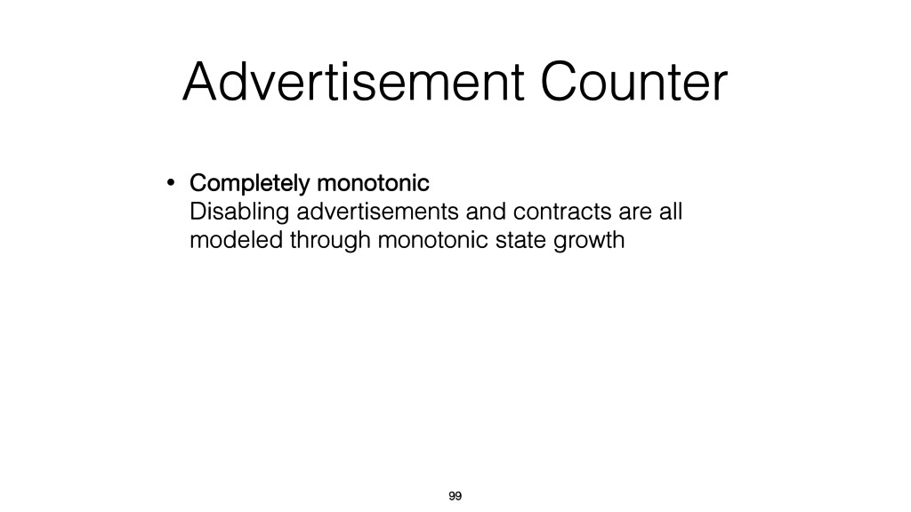Advertisement Counter • Completely monotonic