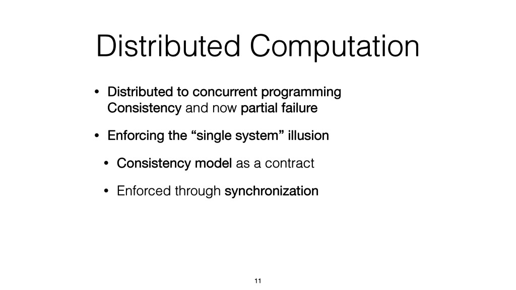Distributed Computation • Distributed to concur...