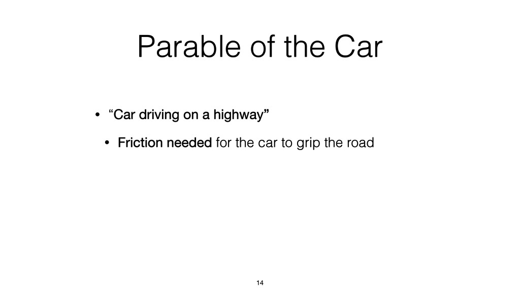 "Parable of the Car • ""Car driving on a highway""..."