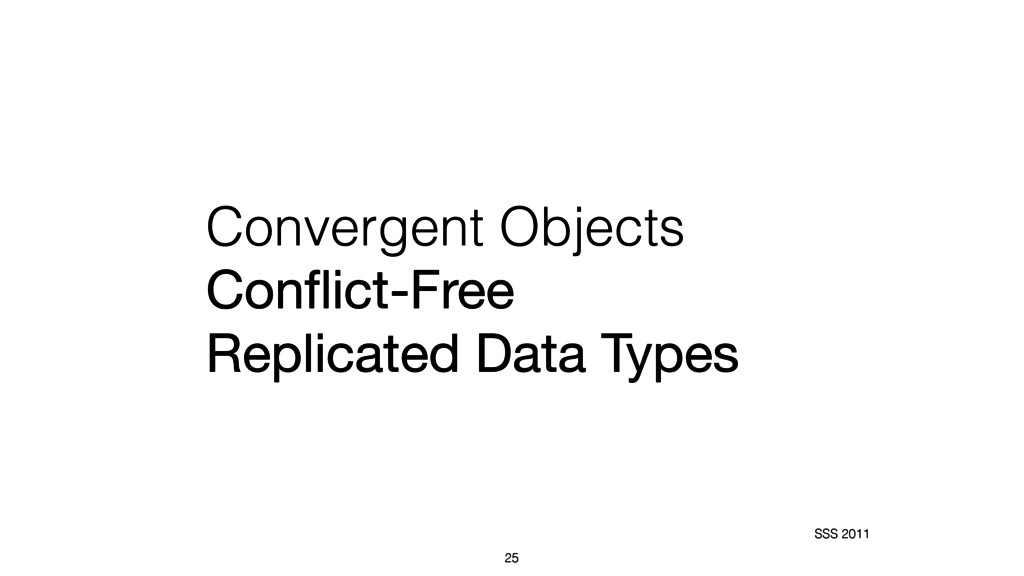 Convergent Objects