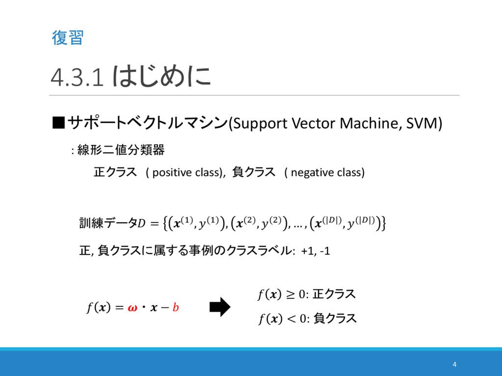 4.3.1 はじめに 4 ■サポートベクトルマシン(Support Vector Machin...