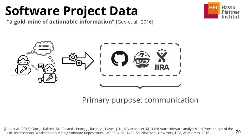 """Software Project Data 20 """"a gold-mine of action..."""