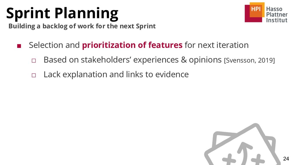 Sprint Planning 24 Building a backlog of work f...