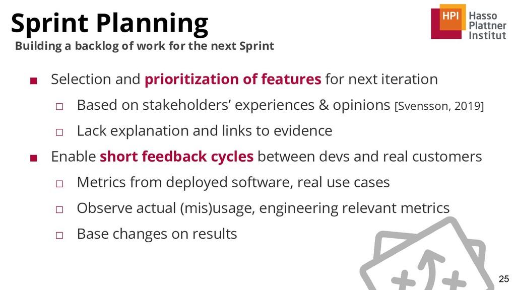 Sprint Planning 25 Building a backlog of work f...