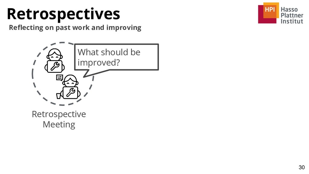 Retrospectives 30 Reflecting on past work and im...