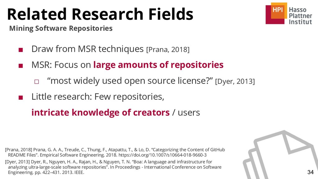 Related Research Fields 34 Mining Software Repo...