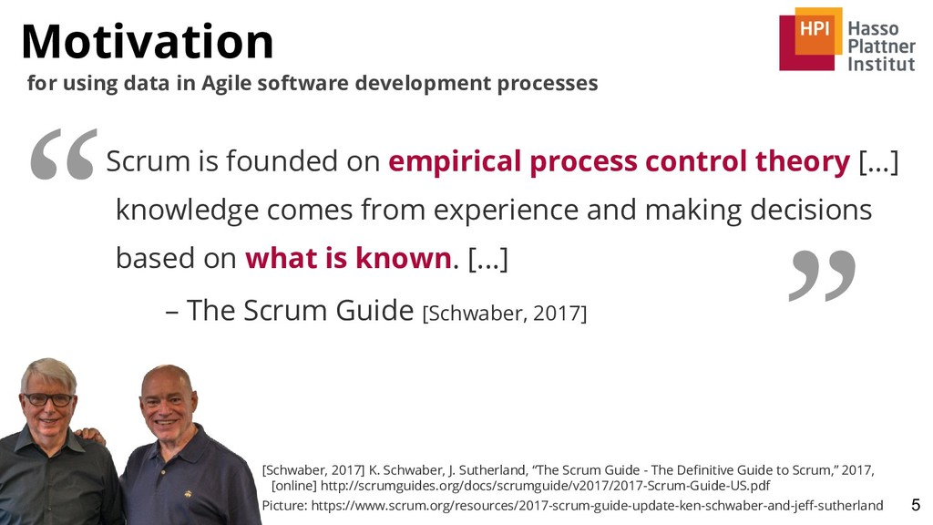 Motivation 5 for using data in Agile software d...