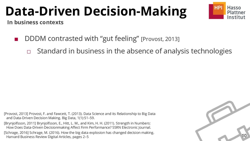 Data-Driven Decision-Making 10 In business cont...
