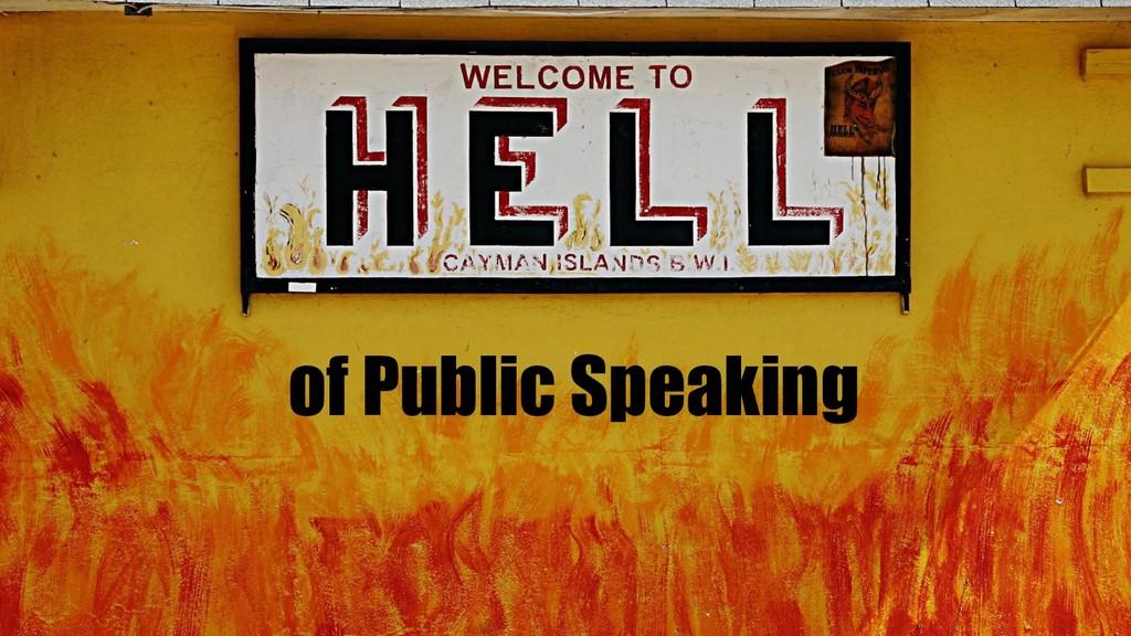 Public Speaking of Public Speaking