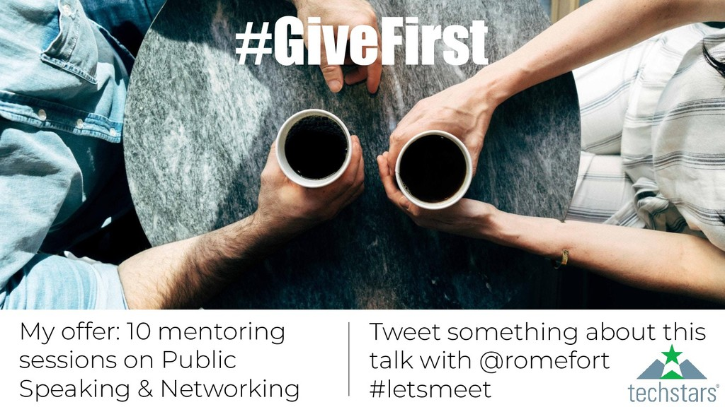 #GiveFirst My offer: 10 mentoring sessions on P...