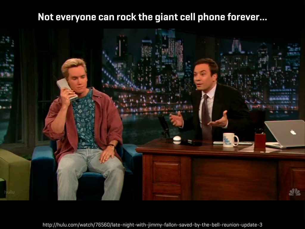 Not everyone can rock the giant cell phone fore...