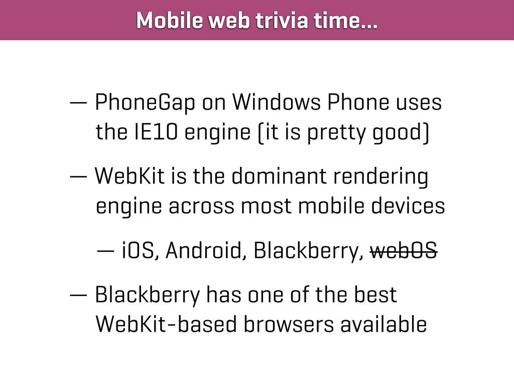 Mobile web trivia time… — PhoneGap on Windows P...