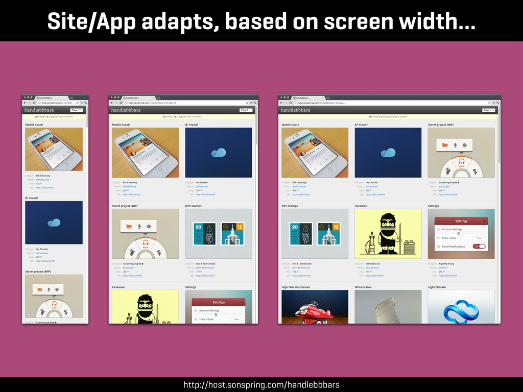 Site/App adapts, based on screen width… http://...