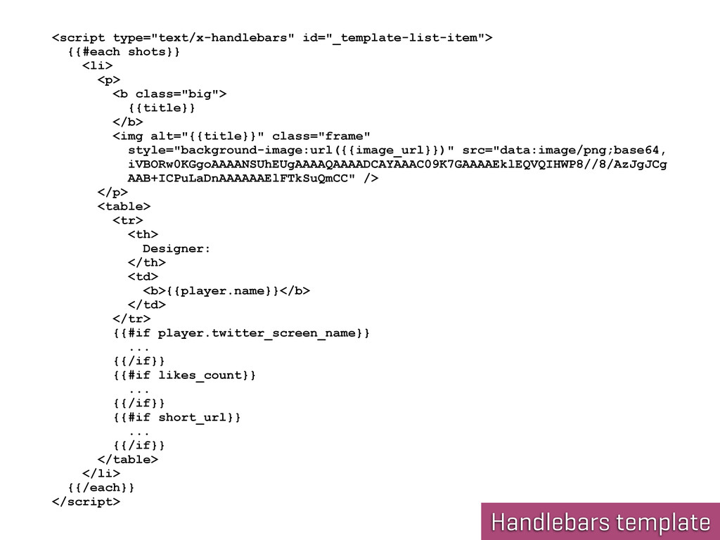 "Handlebars template <script type=""text/x-handle..."