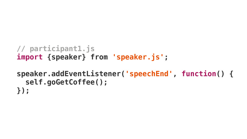 // participant1.js import {speaker} from 'speak...
