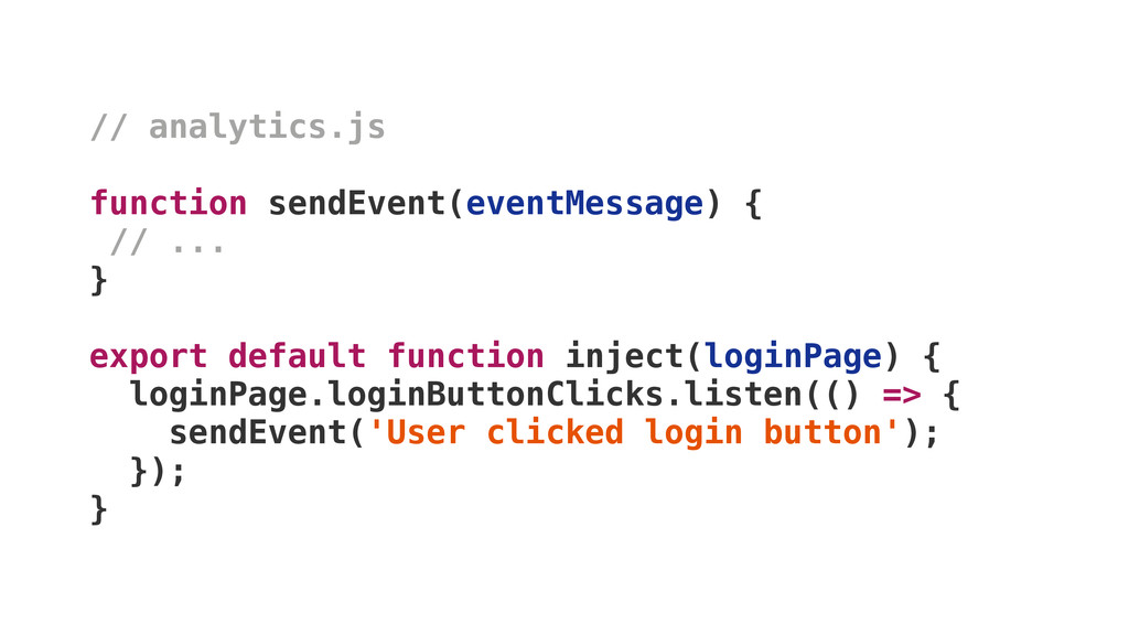 // analytics.js function sendEvent(eventMessage...