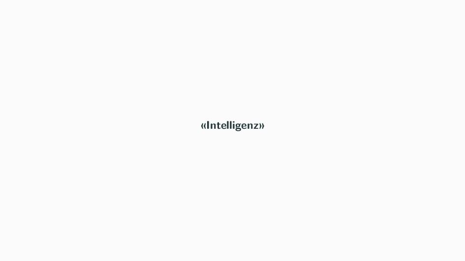 «Intelligenz»