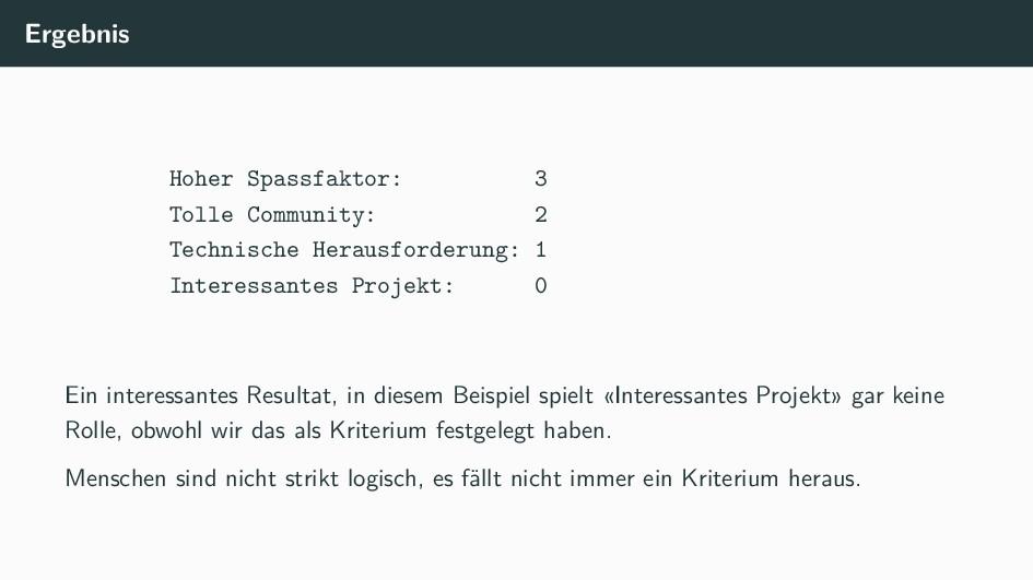 Ergebnis Hoher Spassfaktor: 3 Tolle Community: ...