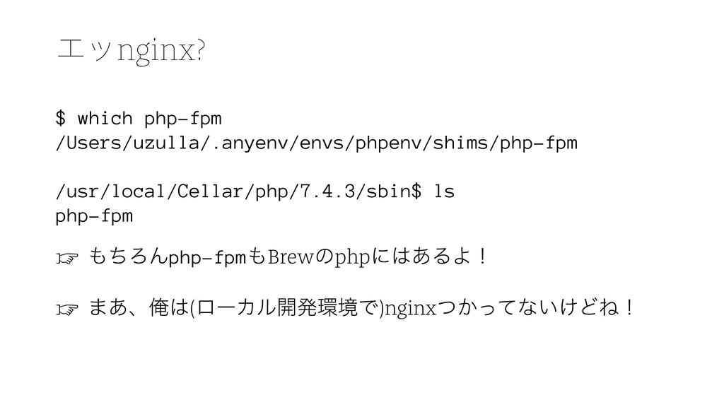 Τοnginx? $ which php-fpm /Users/uzulla/.anyenv/...