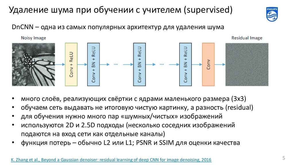 Удаление шума при обучении с учителем (supervis...