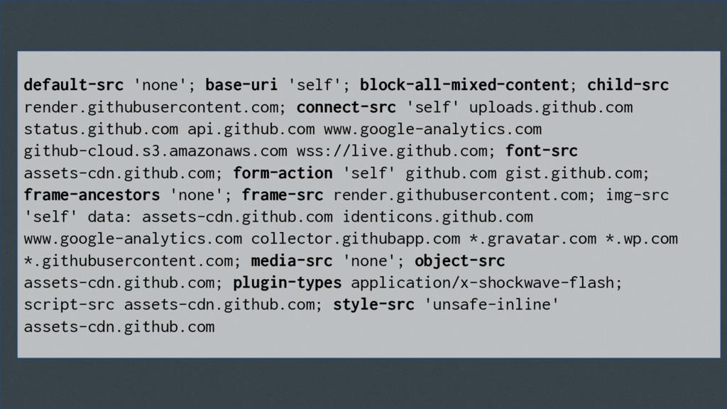 default-src 'none'; base-uri 'self'; block-all-...