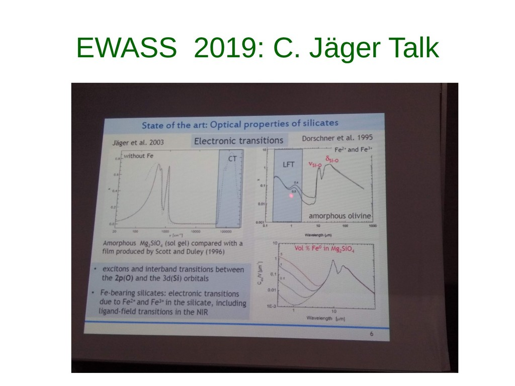 EWASS 2019: C. Jäger Talk