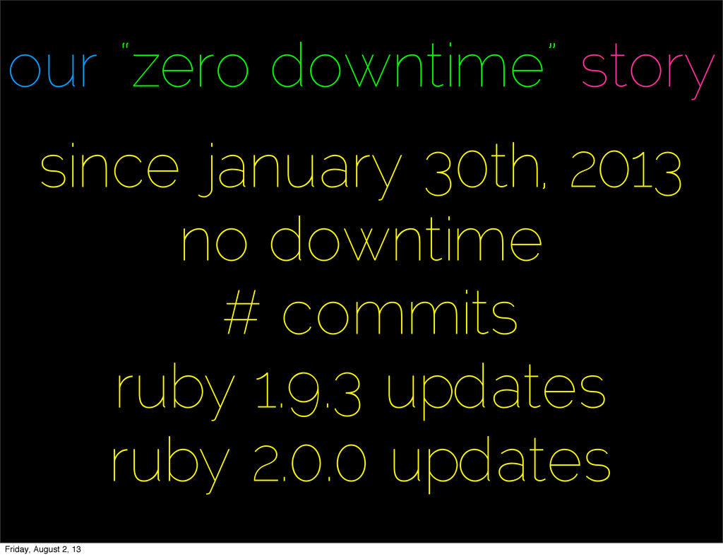 """our """"zero downtime"""" story since january 30th, 2..."""