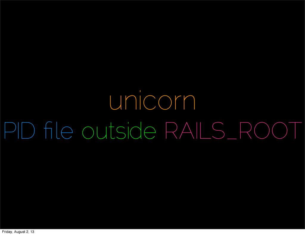 unicorn PID file outside RAILS_ROOT Friday, Augu...