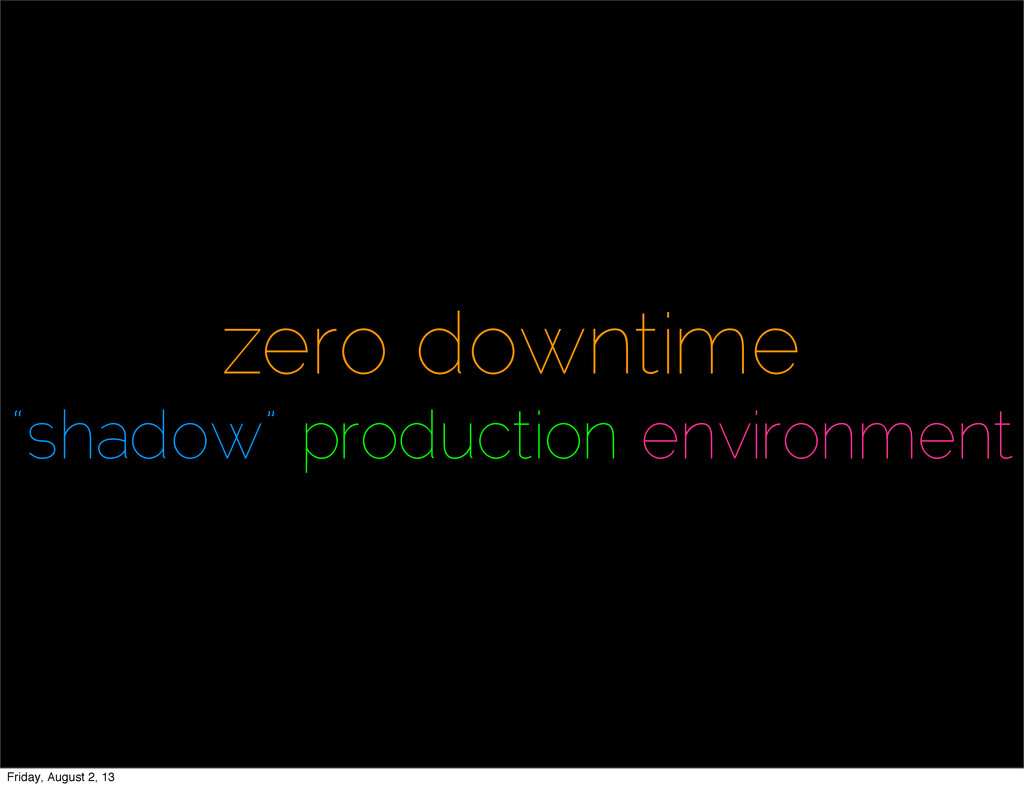 """zero downtime """"shadow"""" production environment F..."""