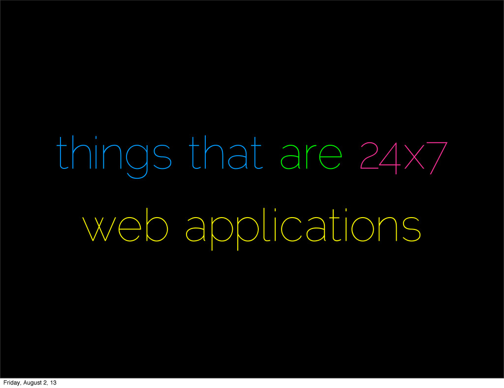 things that are 24x7 web applications Friday, A...