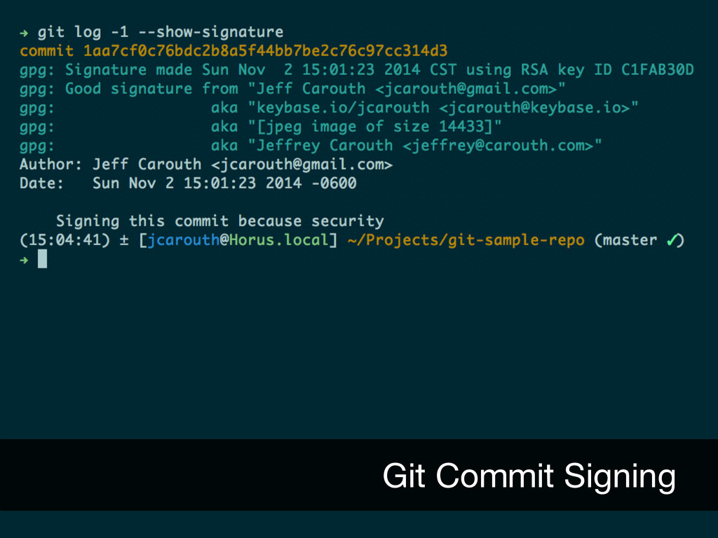 Git Commit Signing