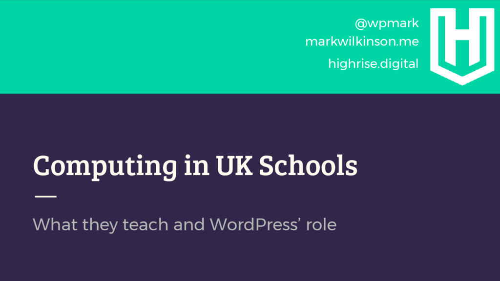Computing in UK Schools What they teach and Wor...