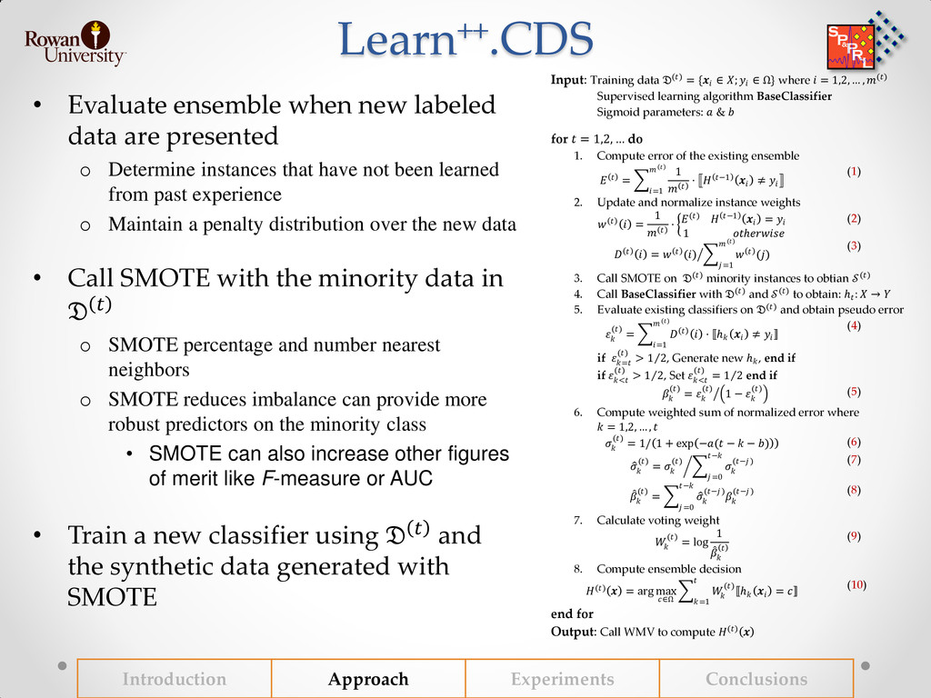 Learn++.CDS • Evaluate ensemble when new labele...