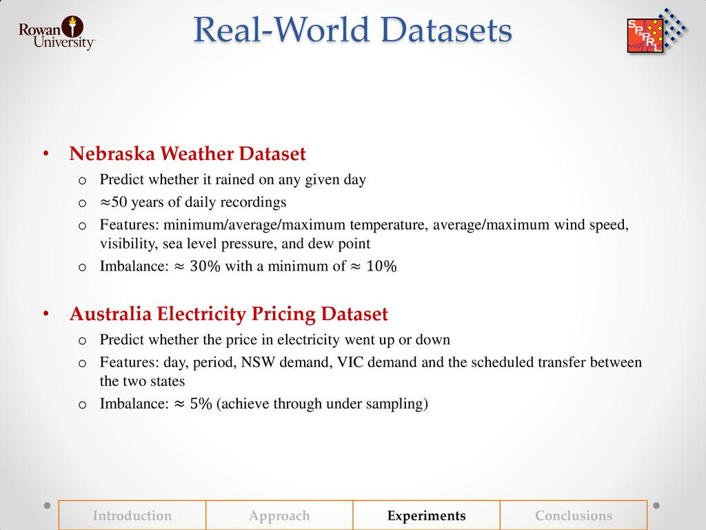 Real-World Datasets • Nebraska Weather Dataset ...