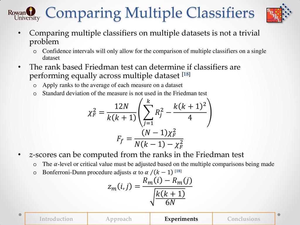 Comparing Multiple Classifiers • Comparing mult...