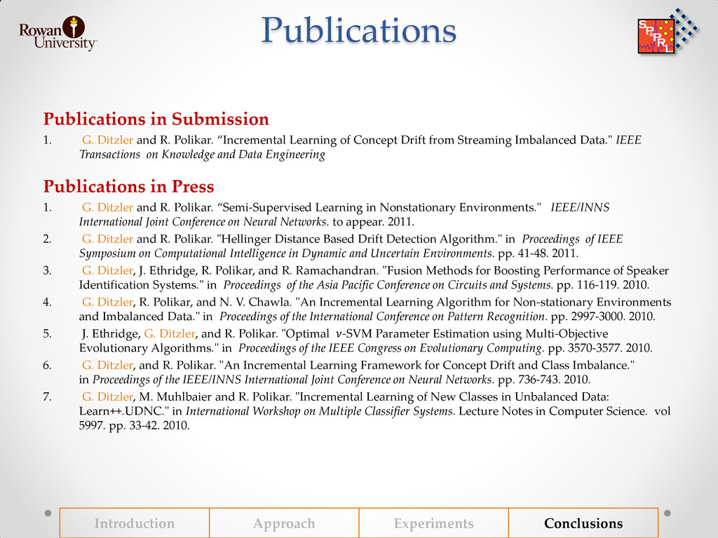 Publications Publications in Submission 1. G. D...