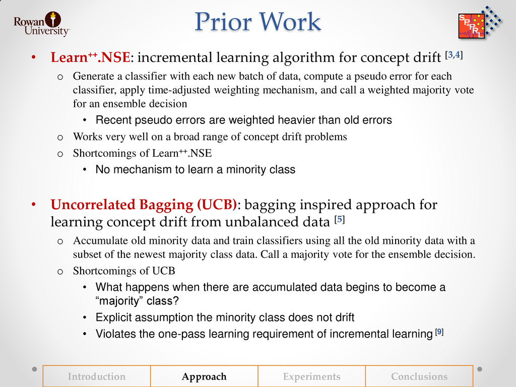 Prior Work • Learn++.NSE: incremental learning ...