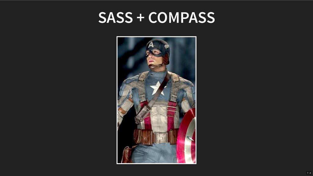 SASS + COMPASS 7 . 3
