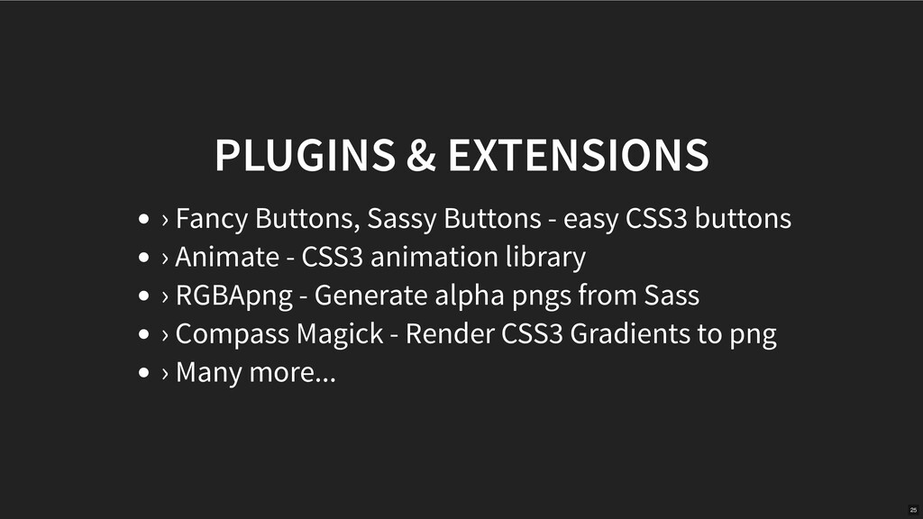 PLUGINS & EXTENSIONS › Fancy Buttons, Sassy But...