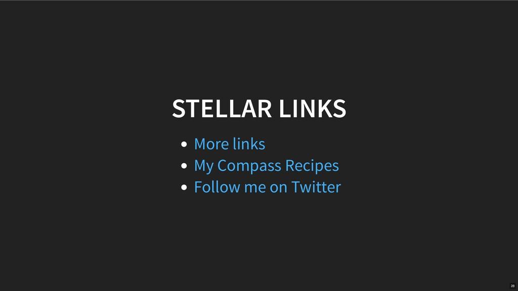 STELLAR LINKS More links My Compass Recipes Fol...