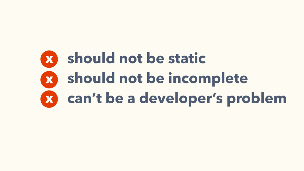 should not be static should not be incomplete c...