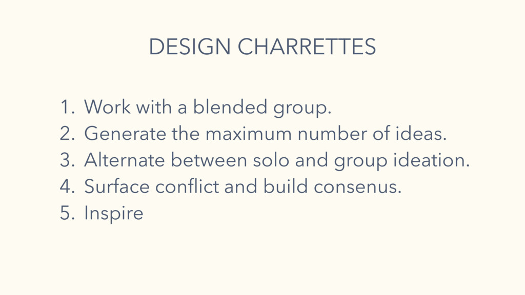 1. Work with a blended group. 2. Generate the m...