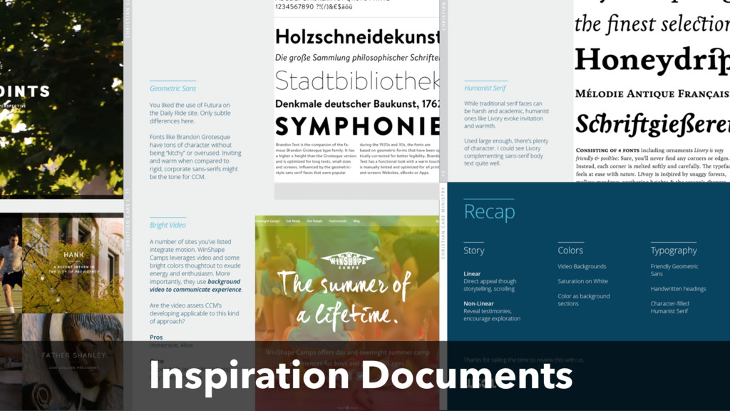 Inspiration Documents