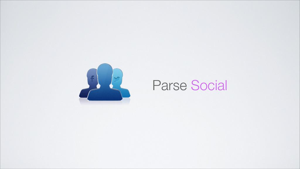 Parse Social