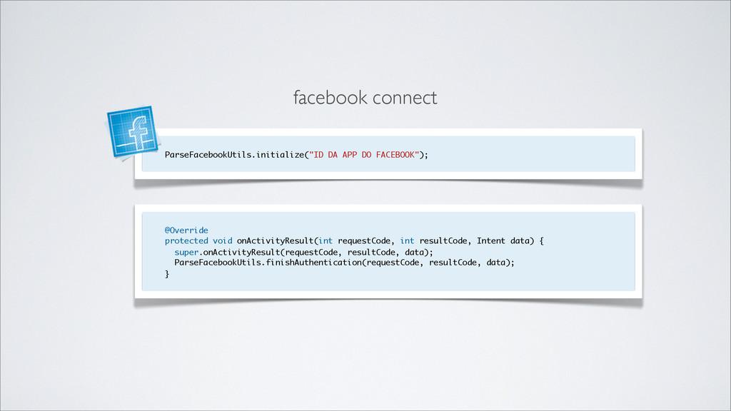 "ParseFacebookUtils.initialize(""ID DA APP DO FAC..."