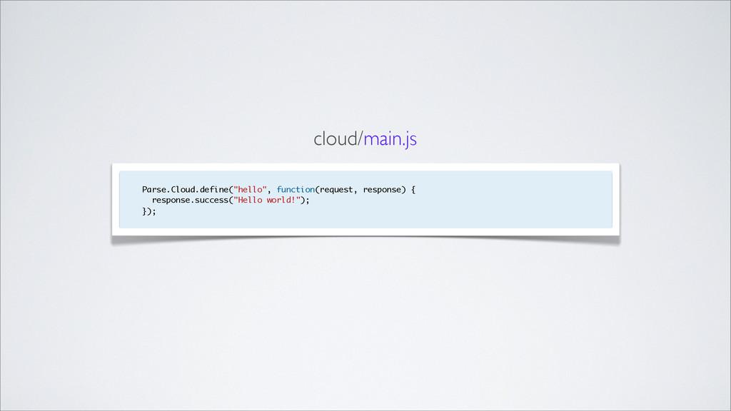 """Parse.Cloud.define(""""hello"""", function(request, r..."""