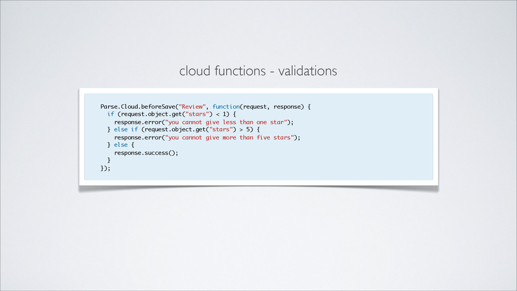 cloud functions - validations Parse.Cloud.befor...
