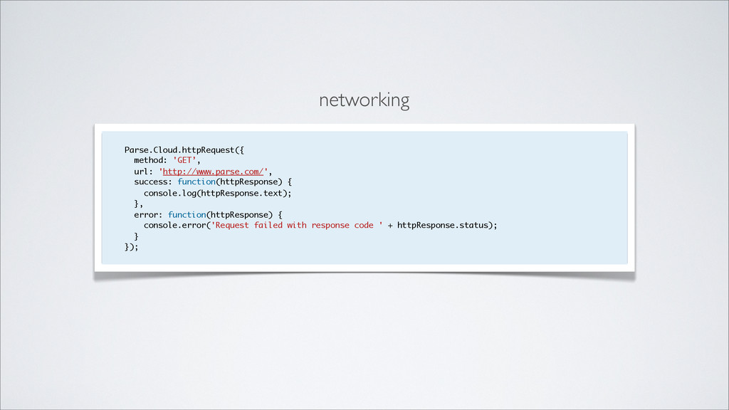 networking Parse.Cloud.httpRequest({ method: 'G...